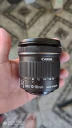 Lente Canon grande angular 10-18mm