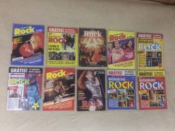 Revistas de rock antigas em perfeito estado