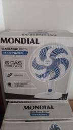 Ventilador Mesa / Parede 30 cm 6 pás Branco Mondial 127 V