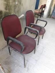 2 cadeiras com braço para escritório,