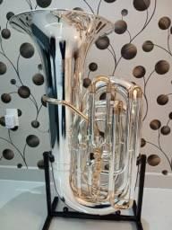 Tuba 5/4 Weingrill Nirschl WNTU1 Sib - Prata com ouro / NOVA -Aceito trocas - Parcelo 12x