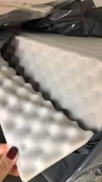 Espuma Acustica Casca de Ovo Cinza Ice 50 x 50 x 2,2 cm