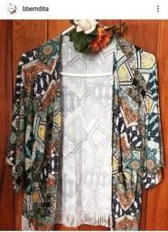 Kimono Étnico - A cara da estação ( BemDita Brechó)