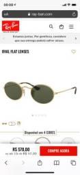 Óculos Oval Flat Verde P- Ray Ban