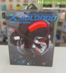 Headset Gamer Com Led Soldado X Soldado GH-18000