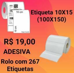 Etiqueta Adesiva 10x15 (100x150) com 267 etiquetas
