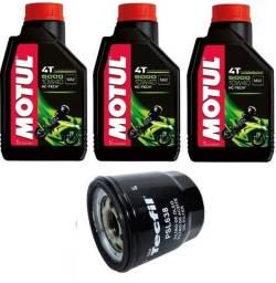 Kit Óleo Motul 5000 4t 10w40 C/ 3 Litros Semissintético  + filtro PH6018