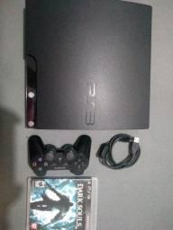 Ps3 + 1 controle original da Sony + jogos