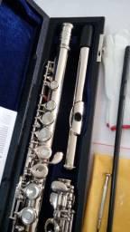 Flauta Jahnke Transversal 17 chaves -NOVA - Niquelada- Parcelo 12x S/Juros