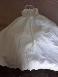 vestido  de dama de honra branco
