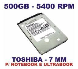 Hd - Disco Rígido para Notebook de 500 GB