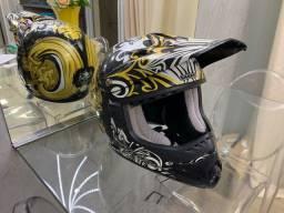 Capacete motocross shark sx1 skully