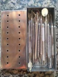 Kit Com 38 instrumentos de dentística e outros