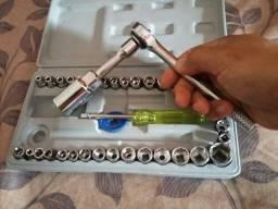 Kit de ferramentas com catraca (novo)<br>Contém 40 peças