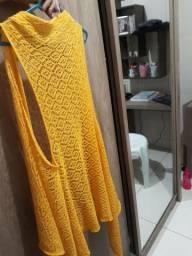 Cardigã amarelo