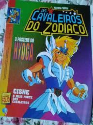 Cavaleiros do Zodíaco - 2 revistas posters mais brinde