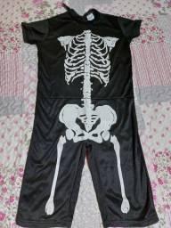 Roupa de esqueleto / caveira Halloween