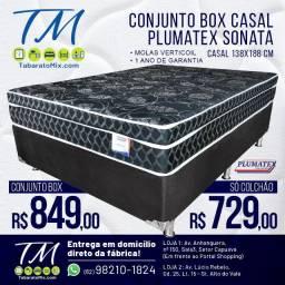 Conj. Casal Plumatex Sonata Black 26CM Molas Verticoil!! 2 Travesseiros Brindes!