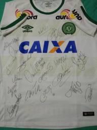 Camiseta Autografada Chapecoense 2016
