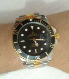 Relógio Rolex Prata Com Dourado
