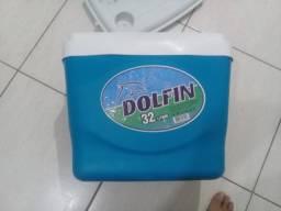 Caixa Térmica Dolfin 32 Litros Com Alça Trava Top Linda
