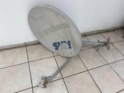 Antena gradiente sky mini parabólica usada em perfeito estado