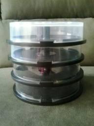 Vendo: Tubo Pote Para Guardar Cd's/Dvd's 4 Com Capacidade Para 15 Unidades Cada Um
