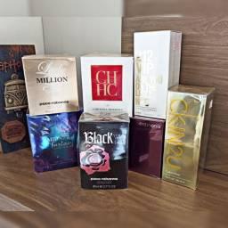 Lote fechado de perfumes importados a preço de custo.