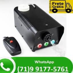 Máquina De Fumaça 600w 3 Leds 1 Watt Rgb Controle Sem Fio (NOVO)