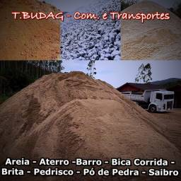 Areia - Aterro - Brita - Cacamba toco e truck