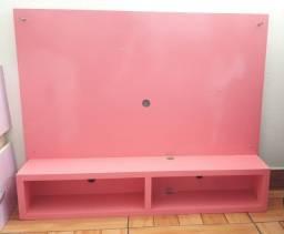 Painel de parede rosa para Tv