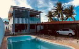 Casa solta com 4 quartos, nascente, duas salas, e piscina na avenida do Janga