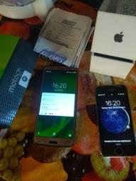 Troco IPhone 5s e Moto G6