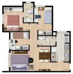 VIL)) Ótimo Apto Três quartos, suíte,pronto para morar, ótima localização !