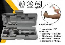 "Kit Chave de Impacto Manual 1/2"" + Bits"