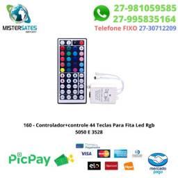 160 - Controlador+ controle 44 Teclas Para Fita Led Rgb 5050 E 3528
