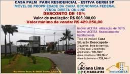 CASA PALM PARK RESIDENCIAL - ESTIVA GERBI SP (DESCONTO DE 15%)