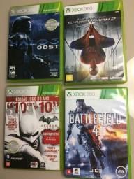 Xbox 360 - Combo 4 Jogos Originais (conforme Fotos)