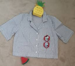 Camisa Tipo Cropped