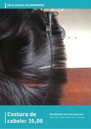 Costura-se cabelo