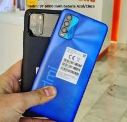 Redmi 9T 6000 mAh bateria Azul/Cinza 4+64Gb