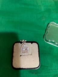 Pingente semi-jóia prata