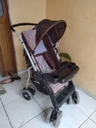 Carrinho De Bebê Tutti Baby Thor Plus Regulável 4 Posições Até 15Kg - Rosa Onça.