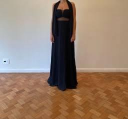 Vestido preto longo festa