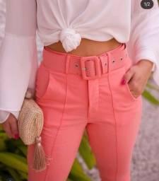 Calça alfaiataria rosa