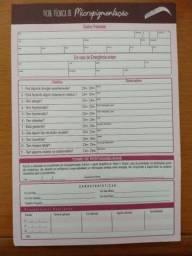 Ficha Cliente Anamnese Micropigmentação