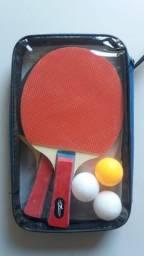 Título do anúncio: Kit Ping Pong Tênis De Mesa 2 Raquetes 3 Bolinhas E Estojo