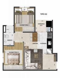 Apartamento 2 dormitorios no  Residencial Superquadra  #rm01