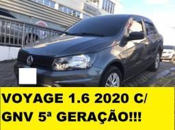 Voyage 1.6 2020 com GNV 5ª geração. Oportunidade!