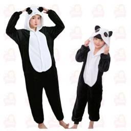 Título do anúncio: Pijama pelúcia de panda infantil - vários tamanhos